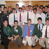 Manchester: The Manchester-Essex Football Super Bowl Champions visit to the Manchester-Essex Rotary Club Wednesday morning for a Rotary breakfast. Courtesy Photo/Gloucester Daily Times