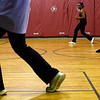 Rockport: Calandra Salo teaches a Zumba class at Rockport Elementary School Thursday nights at 6:30 as part of the Rockport Community Schools program. Zumba is an aerobics dance class paired with latin-inspired music. Photo by Kate Glass/Gloucester Daily Times Thursday, November 13, 2008