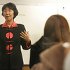 """Manchester: Ji-Li Jiang an award winning author of the popular book, """"The Red Scarf Girl"""" spoke in Kyle Grady's freshman history class Thursday about her experiences during the cultural revolution that occured in China.  Mary Muckenhoupt/Gloucester Daily Times"""