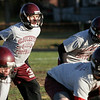 Gloucester: Gloucester's Taylor Burbine (back left) will be back to help the Fishermen in their game against Lynn Classical tonight. Burbine has been out with a shoulder injury since their game against Swampscott. Photo by Kate Glass/Gloucester Daily Times Thursday, October 30, 2008