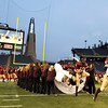 Gloucester High School Football Team are introduced at Gillette Stadium for the Division 2A Superbowl Game Saturday night on December 6,2008 in Foxboro,Mass