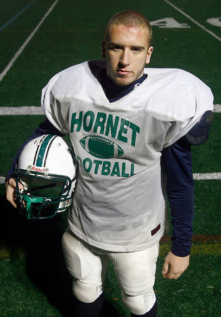 Manchester: Manchester Essex senior captain and linebacker Max Quirk suffered a collapsed lung earlier in the season and missed just a few games, but has returned to help carry the Hornets back to the playoffs. Photo by Kate Glass/Gloucester Daily Times Thursday, November 13, 208