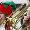 Manchester: Grace Gillette plays the trumpet with the school band during the holiday concert at Manchester Essex High School Friday morning. Mary Muckenhoupt/Gloucester Daily Times