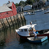 Rockport: Gus Contrino ties up to his boat after unloading his catch at the Rockport Town Landing Tuesday afternoon. Photo by Katie McMahon/Gloucester Daily Times Tuesday, September 23, 2008