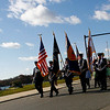 Gloucester: Members of the Gloucester Police and Fire Color Guards march down Stacy Boulevard in the Gloucester Veterans Day parade yesterday. Photo by Kate Glass/Gloucester Daily Times Tuesday, November 11, 2008