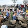 Gloucester: Thanksgiving Day swimmers dry off after their cold swim on Gilson Way after their annual Thanksgiving Day Swim Thursday morning.52 swimmers braved the cold water..Photo by Desi Smith/Gloucester Daily Times Thursday, November 27, 2008