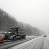 Gloucester: Plows work in lines to clear snow from Route 128 during yesterday's blizzard. Photo by Kate Glass/Gloucester Daily Times Wednesday, December 31, 2008