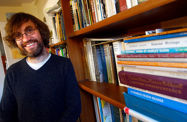 Gloucester: James Cook, poet and Gloucester High School English teacher, will be giving a lecture on Charles Olson's poems at the Cape Ann Museum on Saturday, January 3rd at 3 p.m. Photo by Kate Glass/Gloucester Daily Times