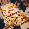 Gloucester: Students from St.Ann School, C.J. Cracchiolo,13, left, and Robbie Harting,14, help prepare Harvest Meals for the community Tuesday evening. Tiffany Shyu/Gloucester Daily Times