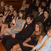Desi Smith /Gloucester Daily Times.       19 new Rockport High School students listen to guest speaker Mr. Wallace Rowe, were the all were inducted to the National Honor Society Wednesday night at the Shalin Liu Performance Center.<br /> April 9,2013.