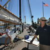RYAN HUTTON/ Staff photo.<br /> John Fuller, executive director of Schooner Adventure, stands on the deck of the ship as he explains the plans to launch the ship this year.