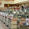 AMY SWEENEY/Staff photo. On a typical day at the Market Basket at Gloucester Crossing, there would be eight registers working, but due to the demonstrations and protests the store is empty on a Thursday morning.  8/7/14
