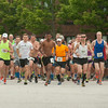 DESI SMITH/Staff photo.   Runners take off in the Triple Threat Half Marathon Sunday morning at Rockport Elementry School on Jerdens Lane.    August 3,2014