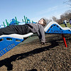 Rockport: Kate Kennedy, 11, pushes Colby Chamberlain, 10, as he relaxes at the Amelia Grace Place behind Rockport Elementary School on Wednesday afternoon. Photo by Kate Glass/Gloucester Daily Times Thursday, April 15, 2009