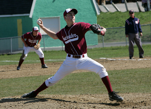 Gloucester: Gloucester pitcher Lucas Ilges pitched a one-hitter during the baseball game against Danvers at Nate Ross Field Friday morning. Gloucester defeated Danvers 3-0. Mary Muckenhoupt/Gloucester Daily Times