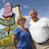 Essex: Amy Ahearn and her husband Joe Ahearn are the owners of Down River Ice Cream an environmentally friendly business in Essex. Mary Muckenhoupt/Gloucester Daily Times