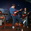 "Gloucester: Morgan Downs rocks out while singing ""I Fought the Law"" with band members Alex Caffi on drums and Eric Lees on guitar, right, while playing at benefit dance organized by the teen leadership group S.A.D.D., Students Against Destructive Decisions, at the American Legion Saturday night. Mary Muckenhoupt/Gloucester Daily Times"