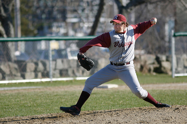 Rockport: Rockport's Mike Foote came in to relieve Chris Trenti during their game against Manchester Essex at Evan's Field yesterday afternoon. Photo by Kate Glass/Gloucester Daily Times Tuesday, April 14, 2009
