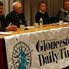 Rockport: Candidates for two seats on the Rockport Board of Selectmen, Armand Aparo, Sandy Jacques, and Sarah Wilkinson, appear in a debate hosted by the Gloucester Daily Times at the Rockport Public Library last night. Photo by Kate Glass/Gloucester Daily Times Thursday, April 23, 2009