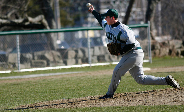 Rockport: Manchester Essex's Tim Surette got the start in their game against Rockport at Evan's Field yesterday afternoon. Photo by Kate Glass/Gloucester Daily Times Tuesday, April 14, 2009