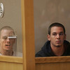 Gloucester: Two Gloucester brothers, Jonathan Chadwick, 23, and William Chadwick, 21, appear at a dangerousness hearing yesterday morning. The two were arrested and charged with aggravated assault and battery with a dangerous weapon for beating Justin Goodwin, 33, of Salem outside Old Timer's Tavern last Saturday.
