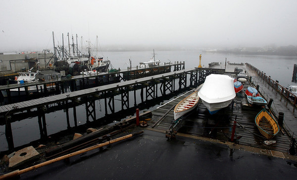 Gloucester: The Maritime Heritage Center provides a good vantage point for seeing members of the fishing industry as they come in and out of Gloucester Harbor. Photo by Kate Glass/Gloucester Daily Times Tuesday, April 21, 2009