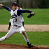 Wenham: Hamilton-Wenham pitcher Matt Greeke only allowed two hits during the Generals' 4-0 win over Rockport at Gordon College yesterday. Photo by Kate Glass/Gloucester Daily Times Thursday, April 23, 2009