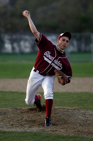Gloucester: Gloucesters' Taylor Burbine pitches against Beverly during their game at Nate Ross Field last night. Photo by Kate Glass/Gloucester Daily Times Wednesday, April 29, 2009
