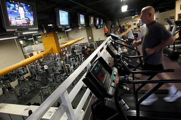 Gloucester: Fitness Zone in the Blackburn Industrial Park recently added more cardio equipment and television sets on two lofts. Photo by Kate Glass/Gloucester Daily Times