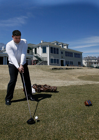 Gloucester: Dan Dwyer is the new club golf pro at Bass Rocks. Photo by Kate Glass/Gloucester Daily Times Tuesday, April 14, 2009