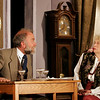 "Rockport: Martin Ray plays Judge McWhirrey and Sarah Clark plays Mrs. St. Maugham in Theater in the Pines production of ""The Chalk Garden"" by Enid Bagnold. The show opens tonight at 7:30 at Spiran Hall in Rockport and runs through Sunday. Photo by Kate Glass/Gloucester Daily Times Tuesday, April 21, 2009"