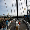 "Gloucester: Peter and Joanne Souza stand aboard the Schooner Adventure, which they have been working to restore for nine years. The schooner is one of 25 historic places in the Greater Boston area being considered for preservation funds. People can vote for the schooner at  <a href=""http://www.PartnersinPreservation.com"">http://www.PartnersinPreservation.com</a>. Photo by Kate Glass/Gloucester Daily Times Monday, April 20, 2009"
