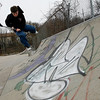 Gloucester: Matt Reeves, 14, of Danvers does a bri-flip on his scooter at the skate park near O'Maley Middle School yesterday. Reeves saw the park while in town for a lacrosse game and wanted to come back. Photo by Kate Glass/Gloucester Daily Times Monday, April 20, 2009