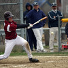 Gloucester: Gloucester's Conor Ressel went five for five at the plate, drove in the game-winning run and pitched relief during the Fishermen's 7-6 win over St. John's Prep yesterday afternoon. Photo by Kate Glass/Gloucester Daily Times