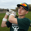 Keith Leavitt, an eighth grader who bats lead off and starts in center field for the Hornets, has already hit three home runs this season. Photo by Kate Glass/Gloucester Daily Times