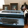 Gloucester: Gloucester poet Vincent Ferrini's typewriter as well as his books are currently at his former home on East Main Street. Photo by Kate Glass/Gloucester Daily Times