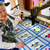 "Gloucester: Linda Hogan of Rockport is the grand prize winner of ""The Quilter Challenge."" The Downy fabric softener challenge began in January to encourage quilters to create as many quilts as possible for hospitalized children.  Linda won the contest by sewing over 6 dozen quilts for sick children in only 60 days. Mary Muckenhoupt/Gloucester Daily Times"