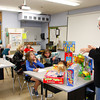 Essex: Ron Magers of M Design in Ipswich speaks to Manchester and Essex fifth graders about his job as a toy designer during Career Day at Essex Elementary School Friday morning.  People from a variety of professions came to speak including a golfer, a K-9 officer and even an astronaut who spoke to the kids via Skype. Mary Muckenhoupt/Gloucester Daily Times