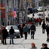 Rockport: Bearskin Neck was a popular destination for many during the long weekend. Rockport selectmen will be discussing their guidelines regarding the placement of signs and merchandise, particularly focusing on Bearskin Neck, during their meeting tonight. Photo by Kate Glass/Gloucester Daily Times