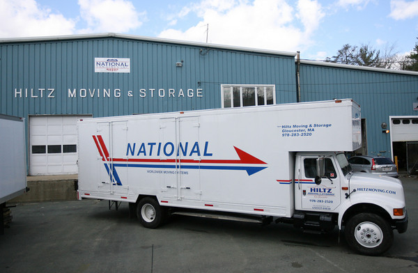 Gloucester: Hiltz Moving and Storage now has a new logo due to its new affiliation with National Van Lines. Photo by Kate Glass/Gloucester Daily Times