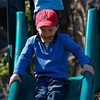 Rockport: Seamus Sullivan 4, of Rockport gets excited to slide down the slide at Millbrook Meadow while playing after the Easter egg hunt Saturday afternoon. Mary Muckenhoupt/Gloucester Daily Times