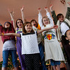 "Rockport: The third grade Art Harbor troupe, from left, Valerie Wise, 9, Hattie Rich, 9, Colleen Murphy, 9, Clara Collins, 8, Carling Berglund, 8, Sarah Murphy, 10 and Alexa Kamm, 7, front, rehearse ""What's Lurking in the Swamp"" at the Unitarian Universalist Society Thursday morning.  The perfromce will be held on May 8th at 4 p.m. at the Unitarian Universalist Society on Cleaves Street.  Mary Muckenhoupt/Gloucester Daily Times"