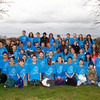 "Rockport: The three fifth grade classes from Beeman Elementary School pose for a picture at Halibut Point State Park in Rockport Friday.  The students came to decorate the park's visitor's center with handmade decorative artwork left over from their ""Living Blue' marine science exhibition held at school Thursday night. Mary Muckenhoupt/Gloucester Daily Times"