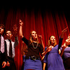 Manchester: From left, Connor Hoff, Nick Bouwer, Piper Brown, Katerina Eichenberger and Allie Freed sing in the a capella group Sound Waves at Manchester Essex High School. The singing group performed before local author Anita Diamant spoke Wednesday night. Mary Muckenhoupt/Gloucester Daily Times