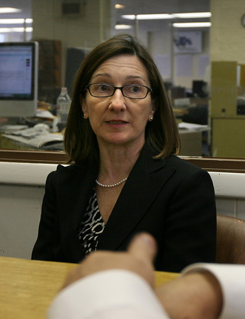 Gloucester: Cindy Cafasso Donaldson, of Addison Gilbert Hospital discusses their plan to get more primary care physicians on Cape Ann. Photo by Kate Glass/Gloucester Daily Times