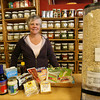 Gloucester: Kate Noonan, co-owner of Common Crow in Gloucester, displays a variety of soy products the story carries. Photo by Kate Glass/Gloucester Daily Times