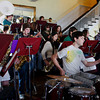 Rockport: The Rockport High School Jazz Band, including Isaac Perry on drums, performes for Rockport Rotarians at the Emerson Inn Thursday afternoon. Mary Muckenhoupt/Gloucester Daily Times
