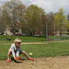 Essex: Luke Smith, 6, practices fielding grounders with his mom at Memorial Field on Tuesday afternoon. Smith will be starting T-Ball this year. Photo by Kate Glass/Gloucester Daily Times