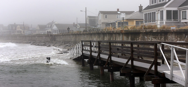 ALLEGRA BOVERMAN/Staff photo. Gloucester Daily Times. Rockport: The view of Long Beach at the juncture of Cape Hedge Beach and Saratoga Creek on Monday.