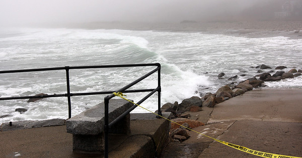 ALLEGRA BOVERMAN/Staff photo. Gloucester Daily Times. Rockport: A view of the surf at Cape Hedge Beach at South Street on Monday.
